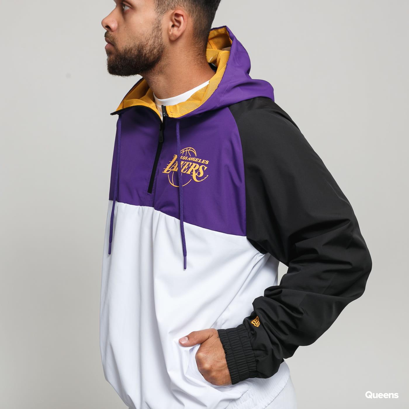 New Era NBA Hooded Windbreaker LA Lakers biela / fialová / čierna