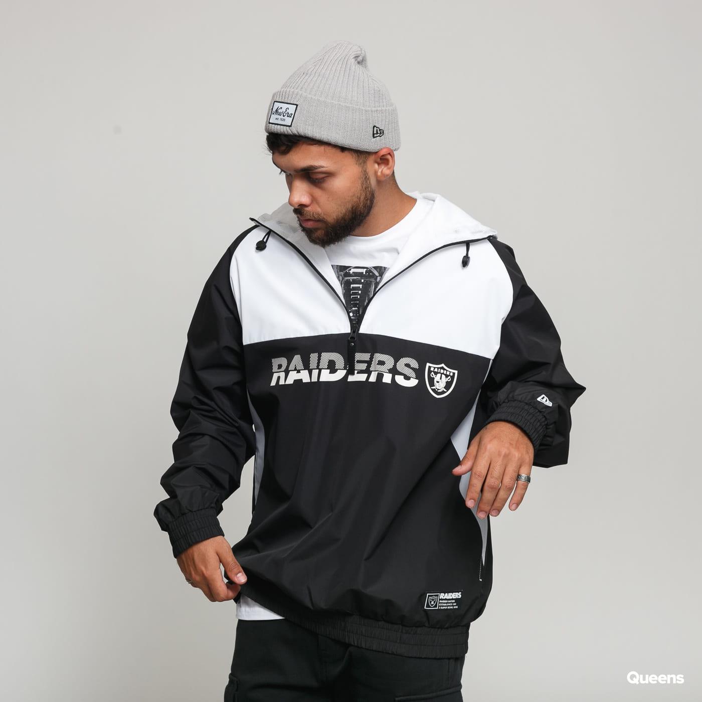 New Era NFL Colour Block Windbreaker Raiders black / white