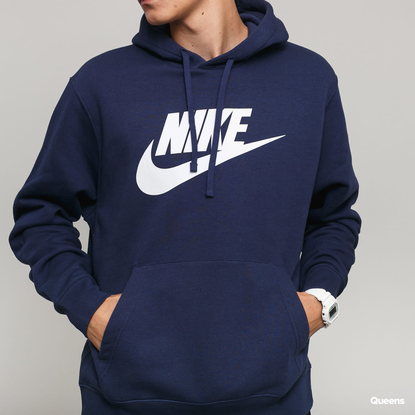 Nike M NSW Club Hoodie PO BB navy