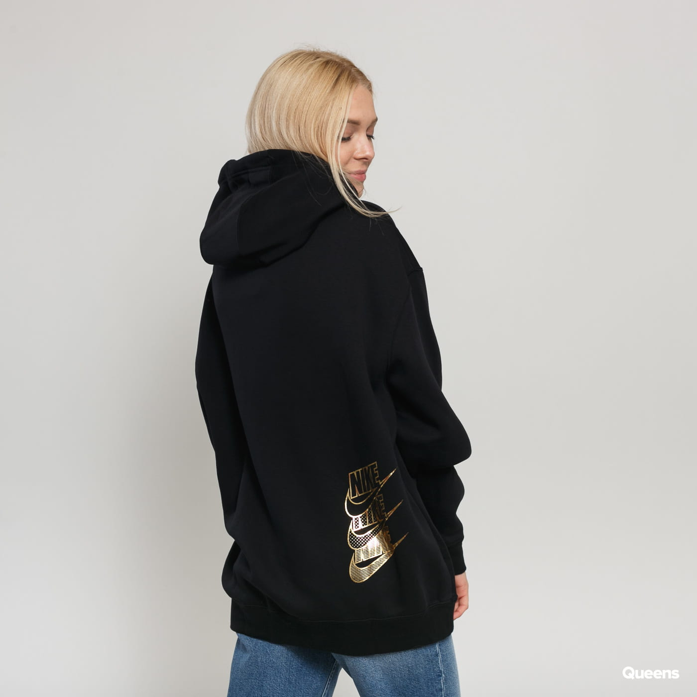 Hooded sweatshirt Nike W NSW HOODIE BB OS SHINE