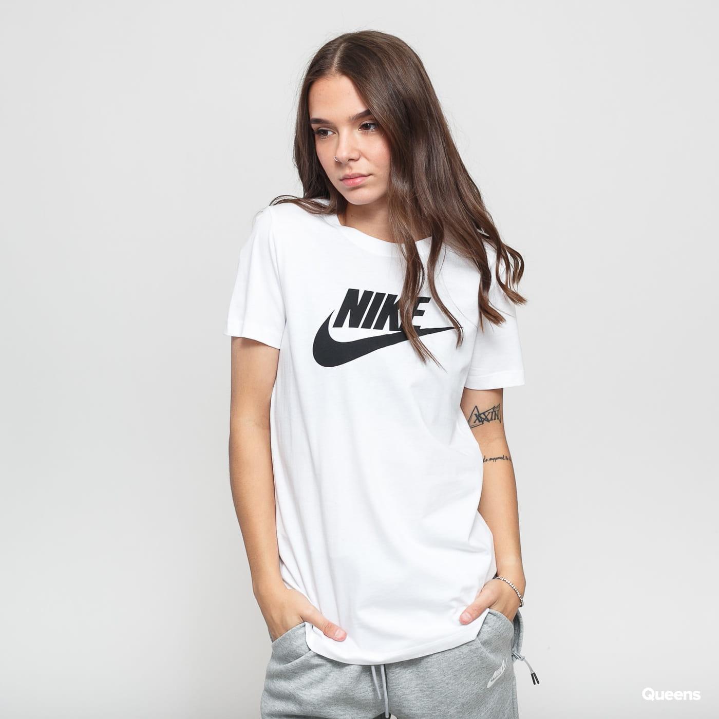 Nike W NSW Tee Essential Icon Futura blau / türkis