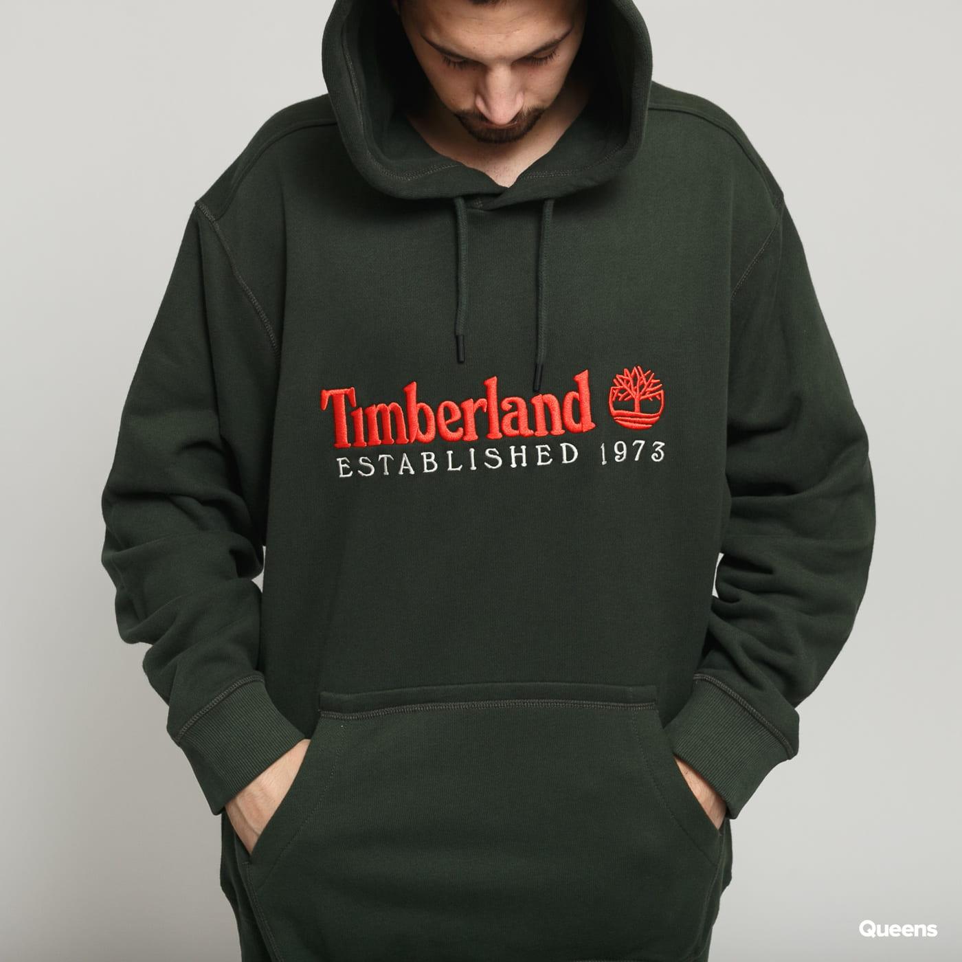 Timberland O-A Hoodie tmavo olivová