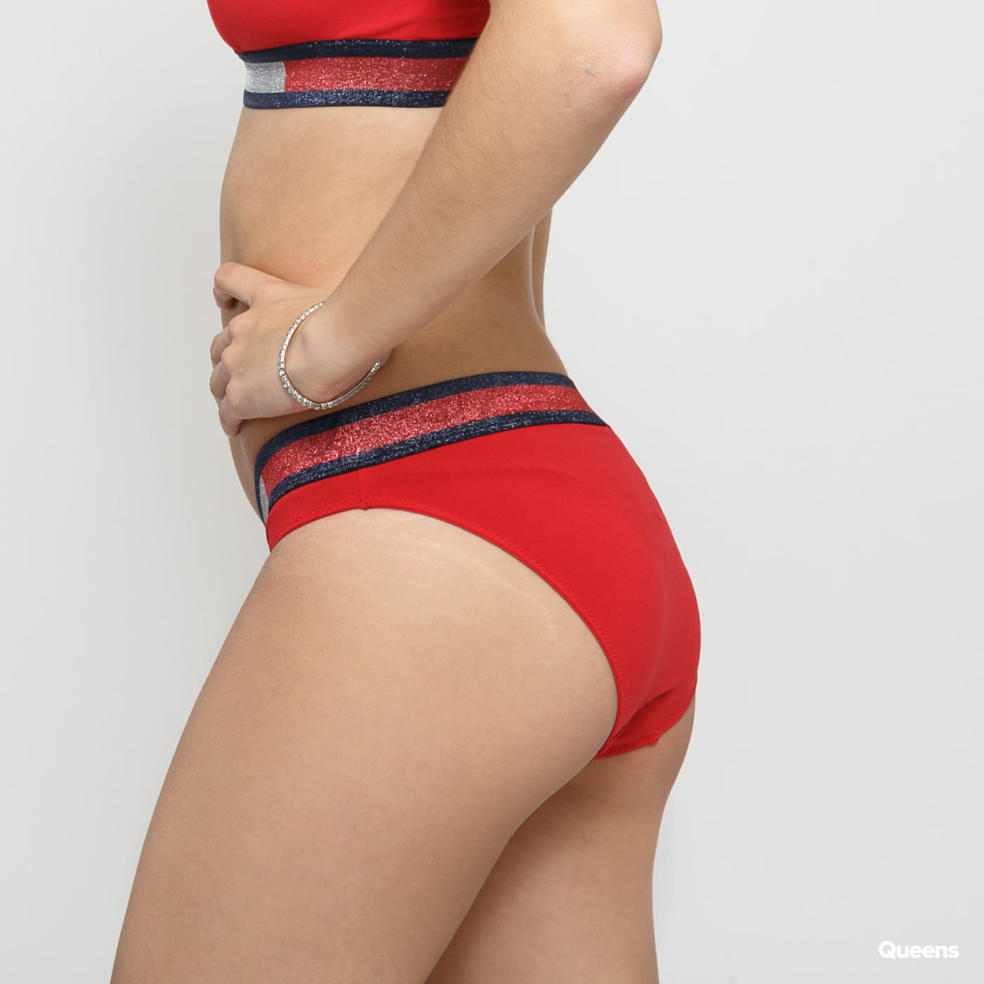 Tommy Hilfiger Bikini - Slip červené / strieborné / navy