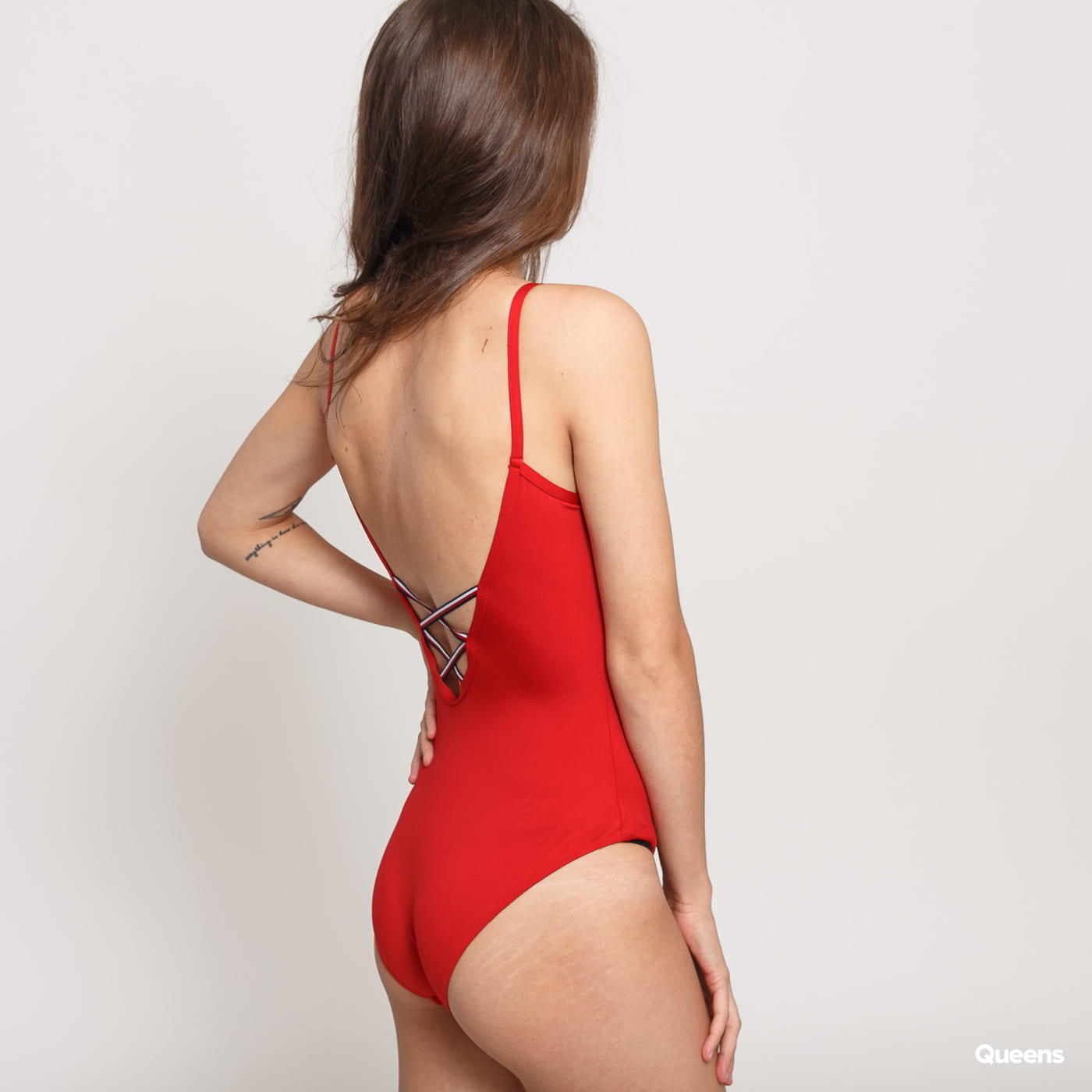 Tommy Hilfiger One Piece Swimsuit red