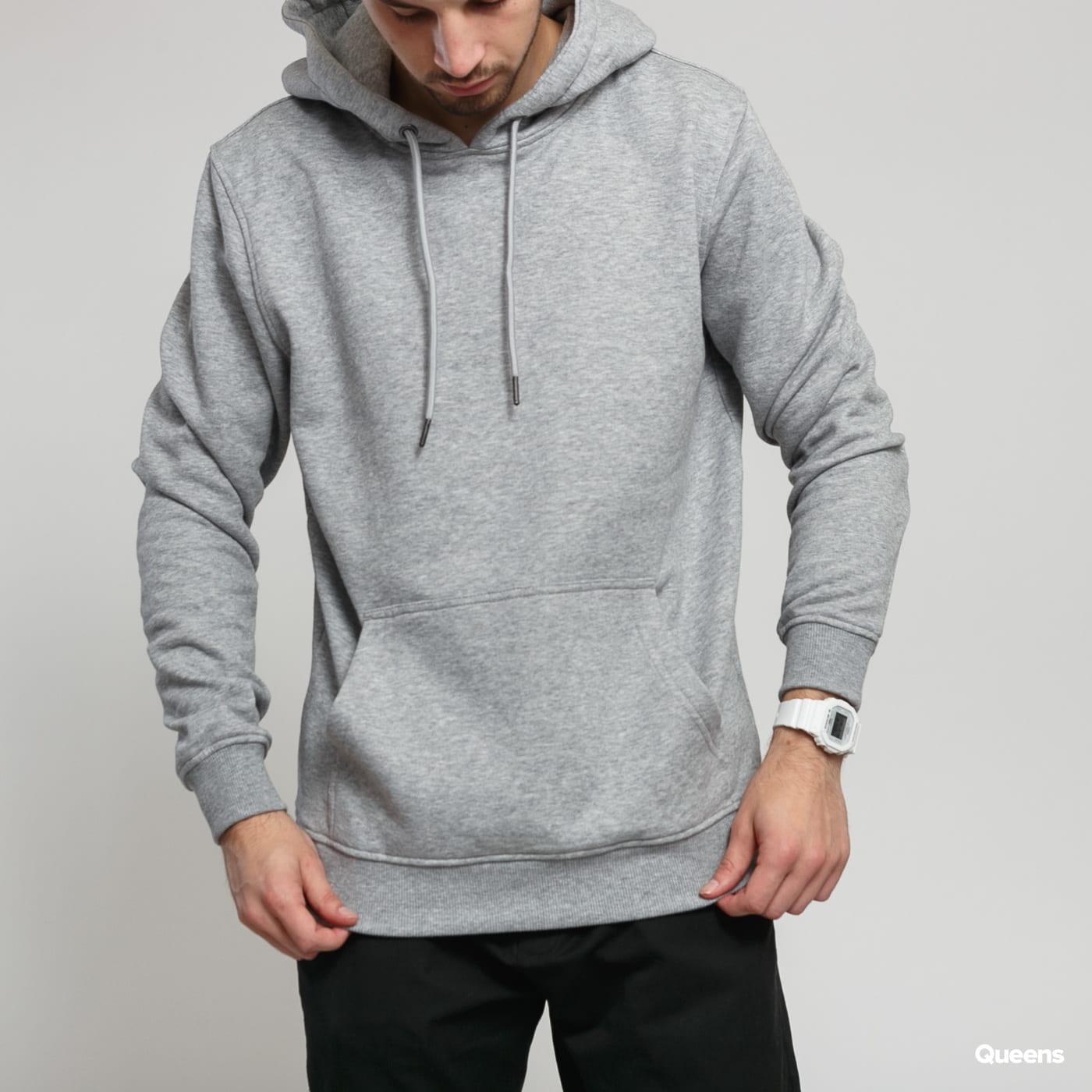 Urban Classics Basic Sweat Hoody šedá