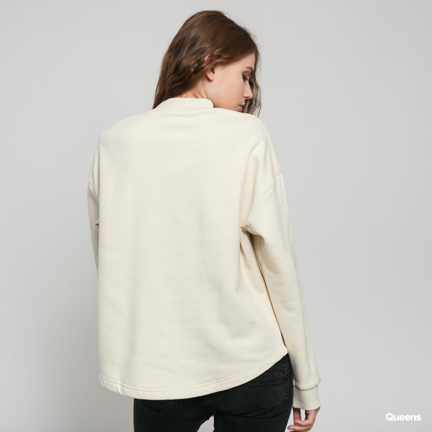 Urban Classics Ladies Oversized High Neck Crew light beige