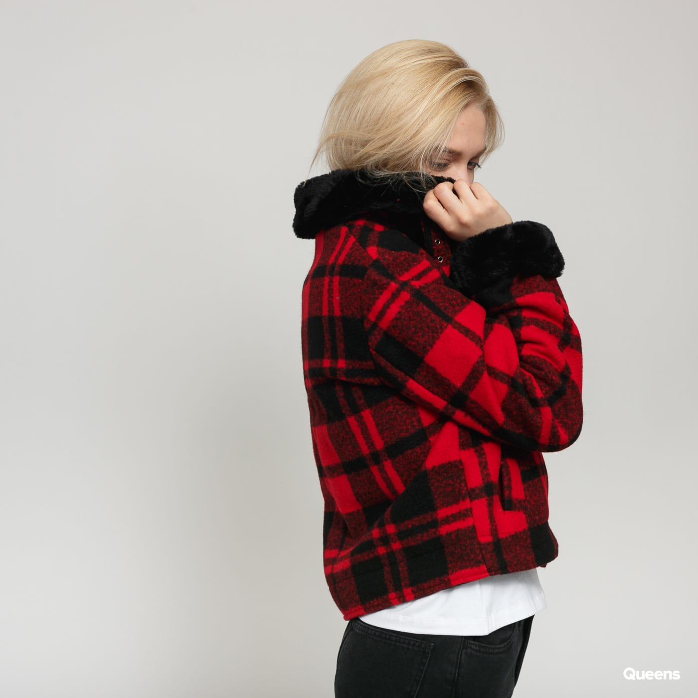 Urban Classics Ladies Plaid Jacket červená / černá