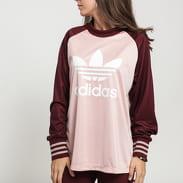 adidas Originals Longsleeve Tee růžové / tmavě vínové