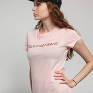 CALVIN KLEIN JEANS W Institutional Logo Tee světle růžové