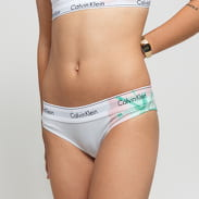 Calvin Klein Tanga bílé / světle růžové / zelené