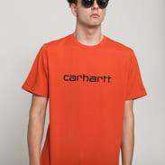 Carhartt WIP Script Tee tmavě oranžové
