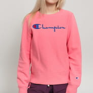 Champion Reverse Weave Big Script Crew Sweat růžová