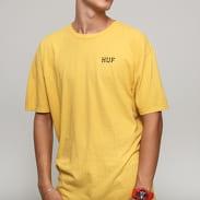 HUF Dystopia Classic H T-Shirt tmavě žluté
