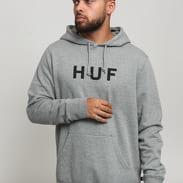 HUF Essentials OG Logo PO Hoodie melange šedá