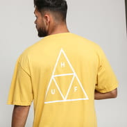 HUF Essentials Triple Triangle Tee tmavě žluté
