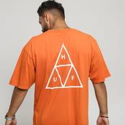 HUF Essentials Triple Triangle Tee tmavě oranžové