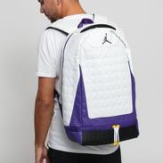 Jordan Retro 13 Backpack bílý / fialový