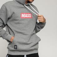 Mass DNM Big Box Medium Logo Hoody melange šedá