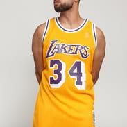 Mitchell & Ness NBA Swingman Jersey LA Lakers - Shaquille O'neal #34 žlutý