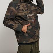 NAPAPIJRI Rainforest Pocket Print Jacket camo zelená / hnědá