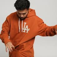 New Era MLB Vintage Big Logo Hoody LA tmavě oranžová