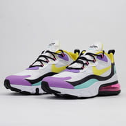Nike Air Max 270 React white / dynamic yellow - black