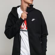 Nike M NSW Club Hoodie FZ BB čierna