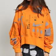 Nike W NSW Crew Fleece AOP FTR Air oranžová / šedá
