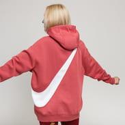 Nike W NSW Swoosh Hoodie tmavě růžová