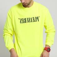PLEASURES Flipped Logo Long Sleeve neon žlutozelené