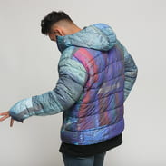 Soulland Over Printed Puffer Jacket multicolor