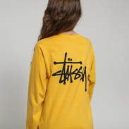 Stüssy Basic Logo Pig Dyed LS Tee žluté