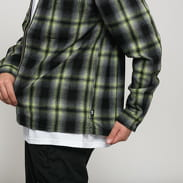 Stüssy Gunn Plaid Zip Up LS Shirt černá / limetková / šedá