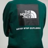 The North Face M Raglan Red Box Hoody tmavě zelená