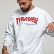 Thrasher Outlined Crewneck melange light gray