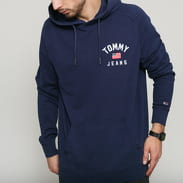 TOMMY JEANS M Washed Chest Graphic Hoodie navy