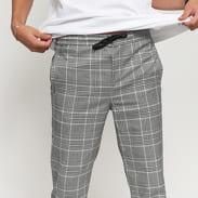 Urban Classics Cropped Comfort Glenchck Pants šedé / černé / bílé