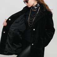Urban Classics Ladies Oversized Sherpa Coat černá