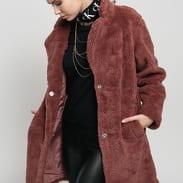Urban Classics Ladies Oversized Sherpa Coat vínová
