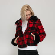 Urban Classics Ladies Plaid Jacket červená / čierna