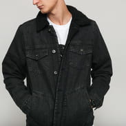 Urban Classics Sherpa Lined Jeans Jacket black wash