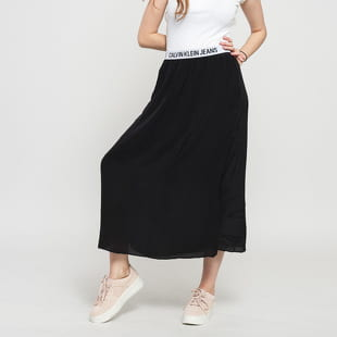 CALVIN KLEIN JEANS W Logo Elastic Midi Skirt