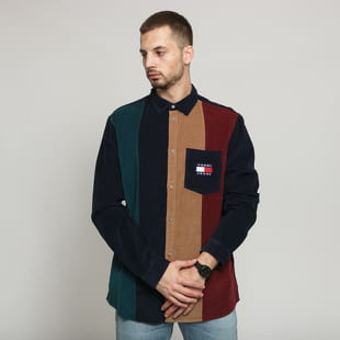 TOMMY JEANS M Colorblock Cord Shirt