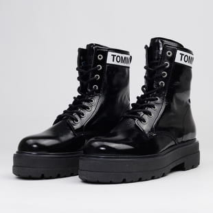 TOMMY JEANS Patent Leather Platform Boot