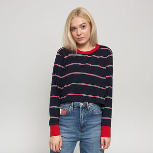 Urban Classics Ladies Short Yarn Dyed Skate Stripe LS
