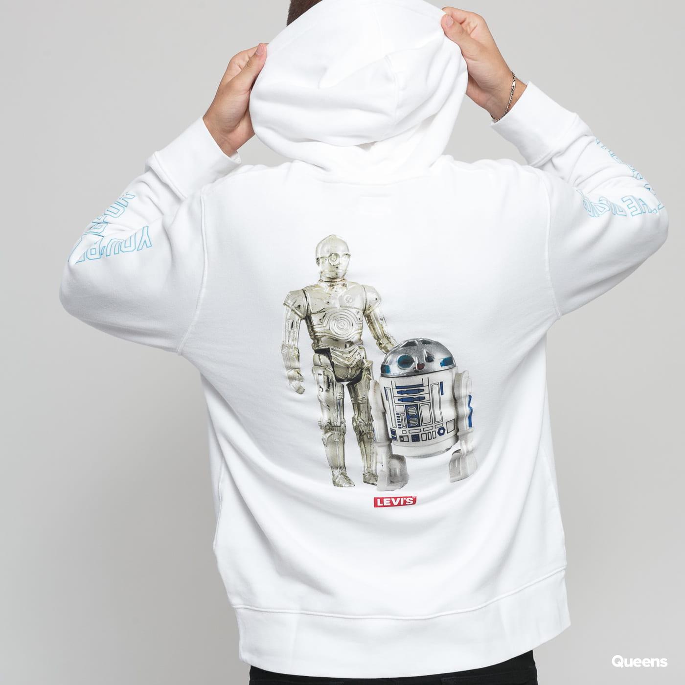 Levi's ® Levi's X Star Wars Graphic PO Hoodie C-3PO & R2-D2 biela