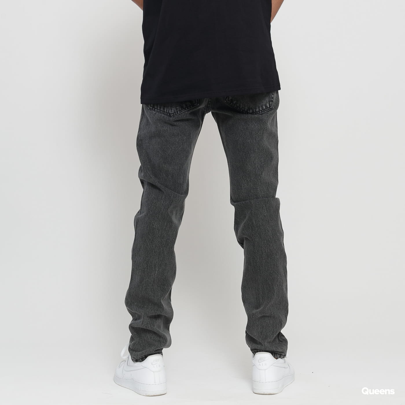 Mass DNM Signature Tapered Fit black stone washed