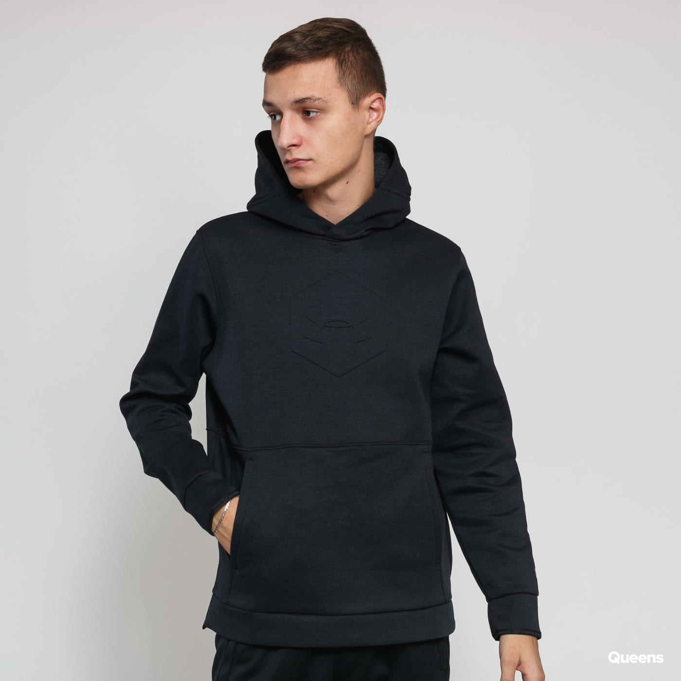 Under Armour Athlete Recovery Fleece Graphic Hoodie black