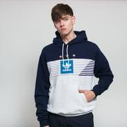 adidas Originals Elevated 3 Hoodie navy / melange šedá