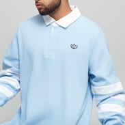 adidas Originals Rugby Shirt světle modré / bílé